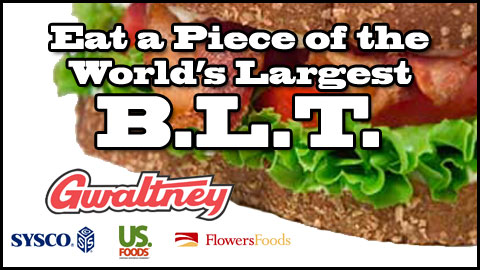 The Tides are aiming to construct a BLT sandwich over 300 feet long
